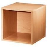 Modular Open Cube Storage System wood
